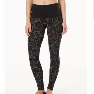 NWT Soma Slimming Leggings Pant Lace Tapestry Gold